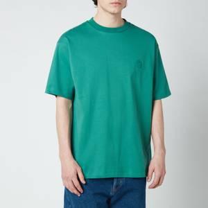 Drôle de Monsieur Men's Ribbed NFPM T-Shirt - Green