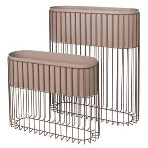 Broste Copenhagen Fenja Iron Plant Stand - Set of 2 - Grey