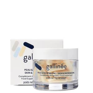 Gallinée Skin and Microbiome Food Supplement: A Month of Pre, Pro and Postbiotics (30 Caps) 15g
