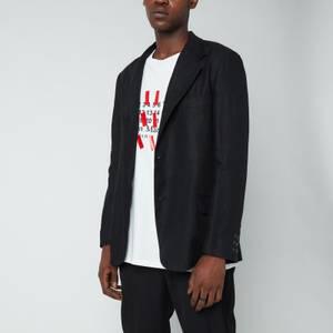 Maison Margiela Men's Linen Herringbone Jacket - Black