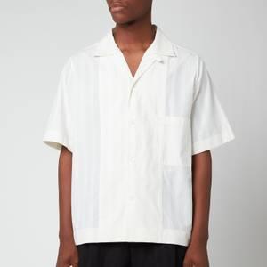 Maison Margiela Men's Cord Pinstripe Shirt - Off White