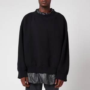 Maison Margiela Men's Destroyed Knitted Jumper - Black