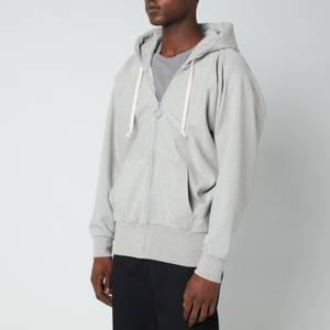 Maison Margiela Men's Firm Ribbed Zip Hoodie - Grey Melange