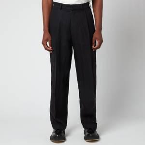 Maison Margiela Men's Smooth Linen Trousers - Black