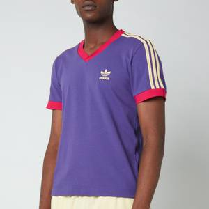 adidas X Wales Bonner Men's 70S V-Neck T-Shirt - Unity Purple/Glaze