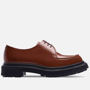 Adieu Men's Type 124 Leather Derby Shoes - Gold Brown