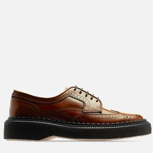 Adieu Men's Type 158 Leather Brogues - Gold Brown