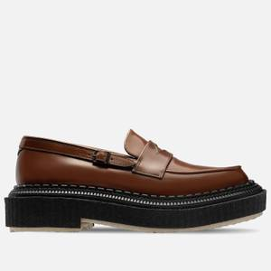 Adieu Men's Type 162 Leather Loafers - Gold Brown