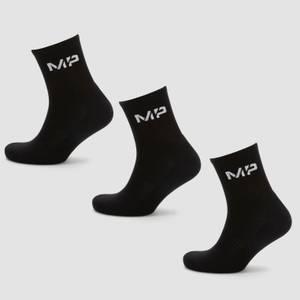 MP Men's Essentials Crew Socks - Black (3 Pack)