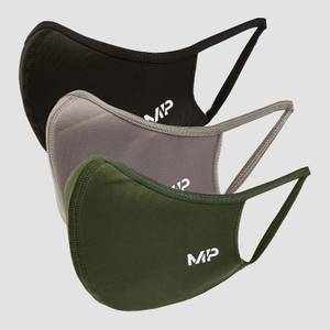 MP カーブ マスク(3枚組)- ブラック / リーフ グリーン / カーボン