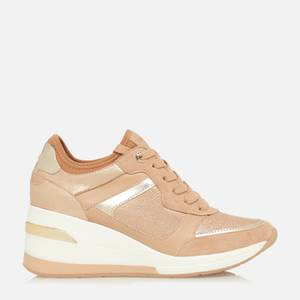 Dune Women's Eilas Running Style Trainers - Camel/Leather