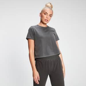 MP Women's Raw Training Cropped T-Shirt - Washed Black