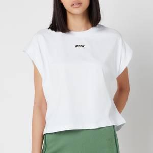 MSGM Active Women's Small Logo T-Shirt - White