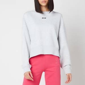 MSGM Active Women's Small Logo Sweatshirt - Grey