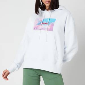 MSGM Active Women's Block Logo Hoodie - White