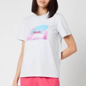 MSGM Active Women's Block Logo T-Shirt - Grey