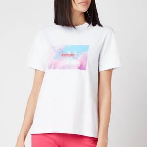 MSGM Active Women's Block Logo T-Shirt - White