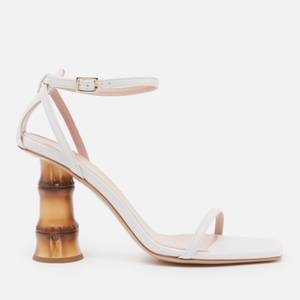GIA BORGHINI Women's Leather Barely There Heeled Sandals - White