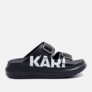 KARL LAGERFELD Women's Kapri Leather Flatform Sandals - Black