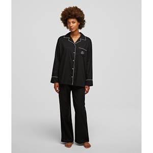 KARL LAGERFELD Women's Long Sleeve Pyjama Shirts - Black