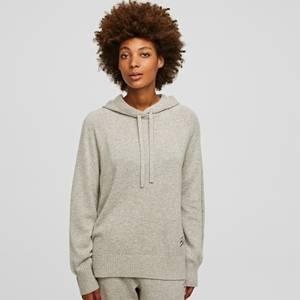 KARL LAGERFELD Women's Wool Cashmere Hoodie - Light Grey