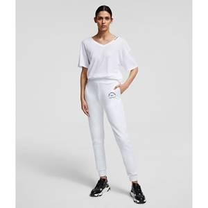 KARL LAGERFELD Women's Address Logo Sweatpants - White