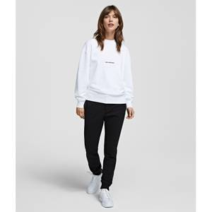 KARL LAGERFELD Women's Unisex Logo Sweatshirt - White
