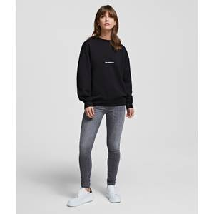 KARL LAGERFELD Women's Unisex Logo Sweatshirt - Black