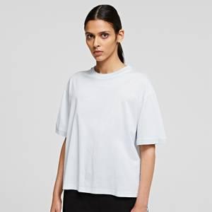 KARL LAGERFELD Women's Mercerized Logo T-Shirt - White