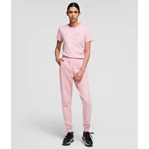 KARL LAGERFELD Women's Rhinestone Logo Pants - Pink