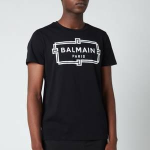 Balmain Men's Printed Logo T-Shirt - Black