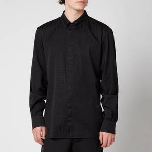 Balmain Men's Tailored Fit Monogram Shirt - Black