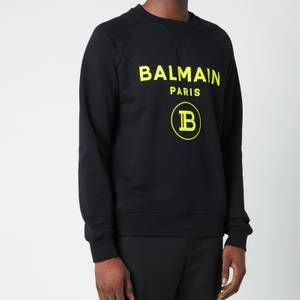 Balmain Men's Flock Sweatshirt - Black/Yellow