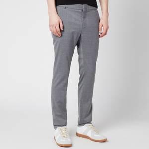 Balmain Men's Slim Wool Trousers - Grey