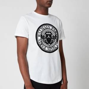 Balmain Men's Coin Flock T-Shirt - White