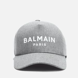 Balmain Men's Wool Cap - Grey Melange