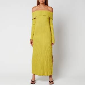Simon Miller Women's Espen Fold Over Midi Dress - Celery