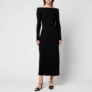Simon Miller Women's Espen Fold Over Midi Dress - Black