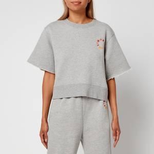 Simon Miller Women's Clio Oversized Cropped Sweatshirt - Heather Grey