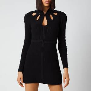 Self-Portrait Women's Knit Tunic Mini Dress - Black