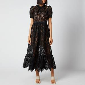 Self-Portrait Women's Lace Midi Dress - Black