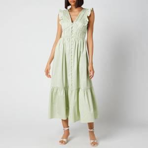 Self-Portrait Women's Cotton Midi Dress - Pistachio