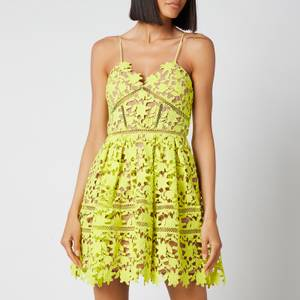 Self-Portrait Women's Azealea Mini Dress - Lime