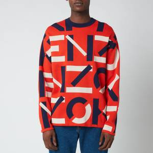 KENZO Men's Monogram Jumper - Deep Orange