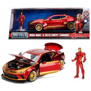 Jada Toys Marvel Iron Man 2016 Chevy Camaro Ss 1:24