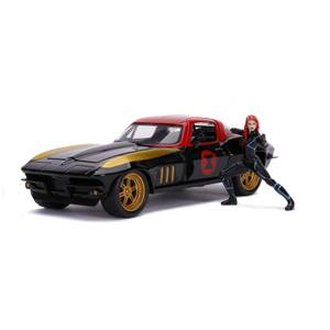 Jada Toys Marvel Black Widow 1966 Chevy 1:24