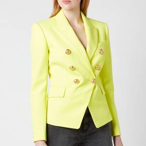 Balmain Women's 6 Button Grain De Poudre Jacket - Anis
