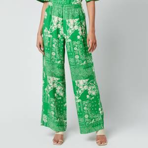 Holzweiler Women's Nuka Print Trousers - Green Mix