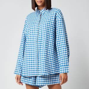 Holzweiler Women's Daisy Check Shirt - Blue Check