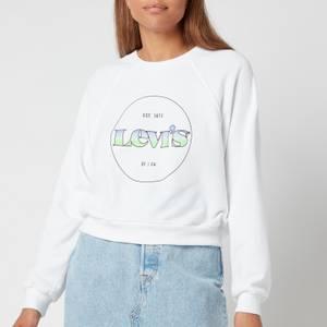 Levi's Women's Vintage Raglan Crew - Crew Circle Logo Gradient White